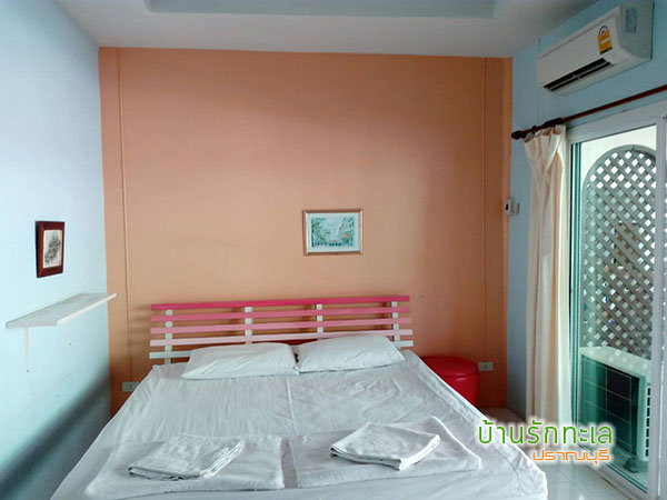 ห้องพัก 2 ท่าน แบบ 1 เตียงใหญ่ ที่พักริมทะเล หาดสามร้อยยอด